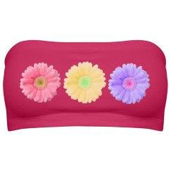 Floral Daisy Bandeau Top