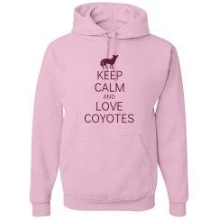 Keep calm love coyotes