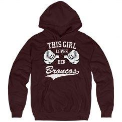 Girl loves her Broncos