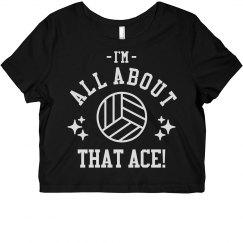 Volleyball Rhinestone Ace