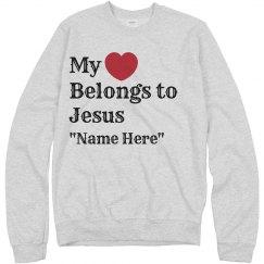 Heart belongs to Jesus