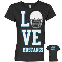 Mustang Football Tee