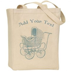Vintage Blue Baby Carriage