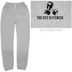 "Basic Grey ""Signature"" Scrunched Sweatpants"
