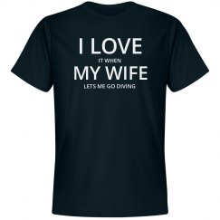 Love wife. love diving