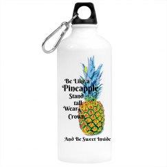 Be Like a Pineapple water bottle
