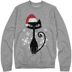 Cat Sweater Funny Christmas Cat Shirt