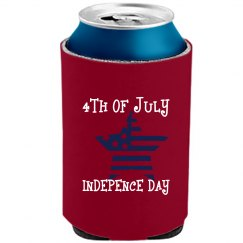 DEEP RED 4TH OF JULY Can Cooler
