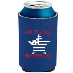 4TH OF JULY NAVY BLUE Can Cooler