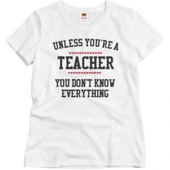 Teacher knows everything