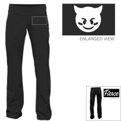 Fierce Emoji Sports Yoga Pants