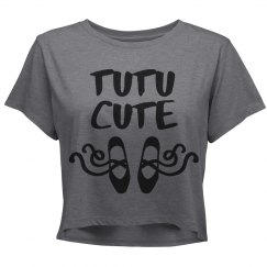 TU TU Cute Ballerina Slippers Crop Shirt