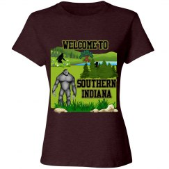 Bigfoot: Welcome To Southern Indiana Ladies Tee