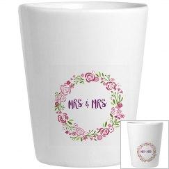 Mrs And Mrs Shot Glass