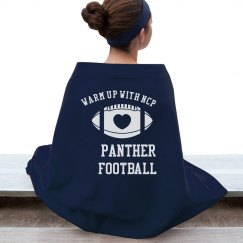 Football Blanket (Blue)