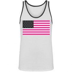pink american flag