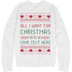 Your Text Ugly Sweater