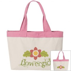 Floral Flowergirl Tote Bag
