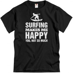 Surfing makes me happy