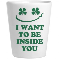 Funny Irish Whiskey Shot Glass