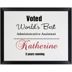 World's Best Plaque