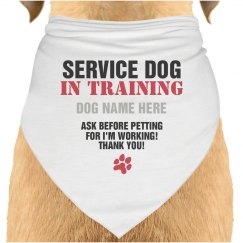 Custom Service Dog Bandana