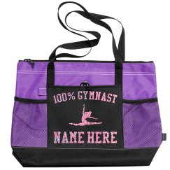 Custom Pink Glitter Gymnast Bag
