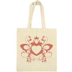 Butterfly heart tote