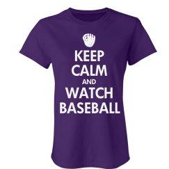 Keep Calm Watch Baseball