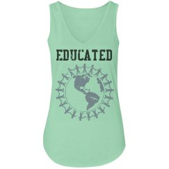 Educated tank (v-neck)