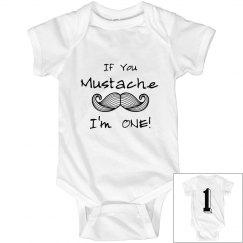 Mustache I'm One