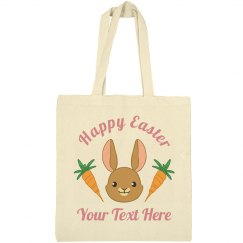 Custom Happy Easter Bunny Bag