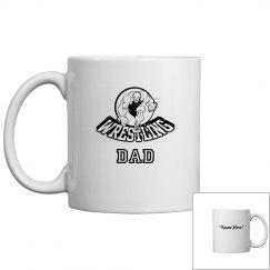 Wrestling dad coffee mug