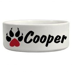 Cooper, Dog Bowl