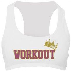 Workout queen.Sports bra