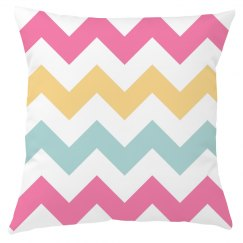 Pastel Chevron Pillow Cover