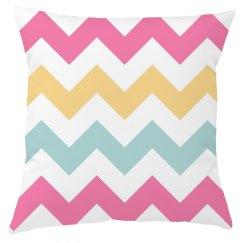 Pastel Chevron Pillow Cover
