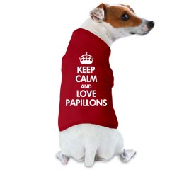 Keep calm love Papillons