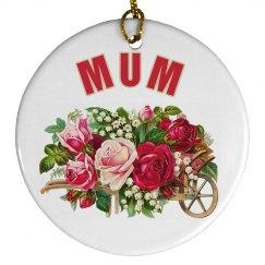 Mums Floral Ornament