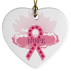 Pink Ribbon Of Hope Ornament