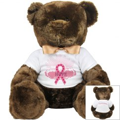 Pink Ribbon Of Hope Teddy Bear