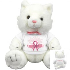Pink Ribbon Of Hope Kitty Cat