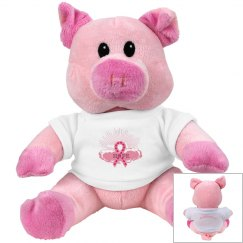 Pink Ribbon Of Hope Pig