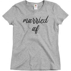 Married AF Trendy Graphic Tee