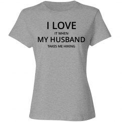 Love husband love hiking t-shirt