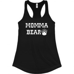 Momma Bear Racerback Terry Tank