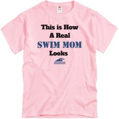 How swim mom looks