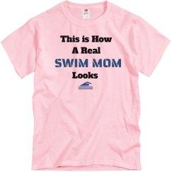 How swim mom looks