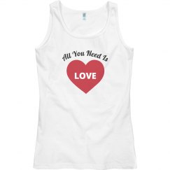 Valentines Day Tank Top for  Her