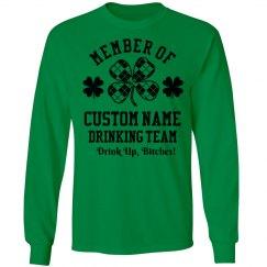 Custom St Patricks Drinking Team
